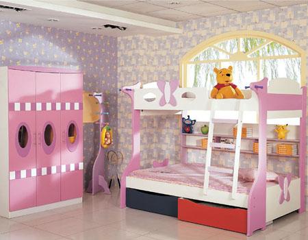 儿童双人床 打造充满活力的七色童年(组图)